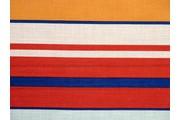 šatovka 8616 červeno oranžové pruhy