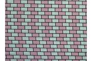 halenkovina 8674 růžovo krémové cihličky
