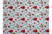 vánoční bavlna se stromečky