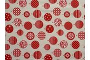 vánoční bavlna s baňkami