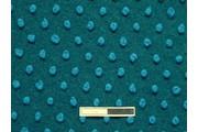 kabátovka vařená vlna smaragdová tyrkysové puntíky