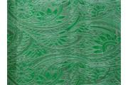 Brokáty - brokát 10 zelený stříbrná výšivka