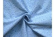 bavlněná látka modré kvítky