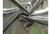 flitrová látka stříbrná černý podklad