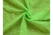 tyl prisma neonově zelený s flitry