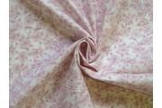 bavlněná látka růžové květy