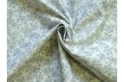 bavlněná látka šedé květy