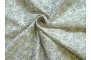 bavlněná látka krémové květy