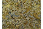 Brokáty - brokát 21 černo zlatý