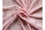elastický tyl boemia růžový s flitry