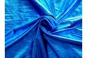 společenská látka metalic modrá