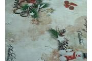 vánoční bavlněná látka se sněhuláčky