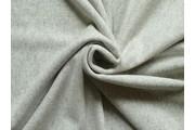 bavlněná počesaná teplákovina 70 melánž šedá