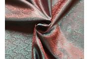 žakárová podšívka cachemire 113 zeleno červená