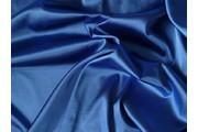 satén strečový 338 modrý