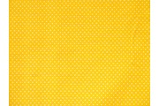 bavlněná látka žlutá bílý puntík