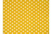 bavlněná látka žlutá puntík