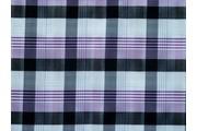 košilová látka 9850 fialová kostkovaná