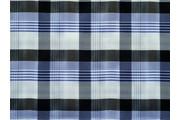 košilová látka 9850 modrá kostkovaná