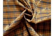Halenkoviny - košilová látka 9850 rezavá kostkovaná