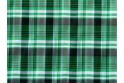 košilová látka 9850 zelená kostkovaná