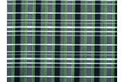 košilová látka 9850 zelená kostkovaná s lurexem