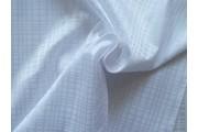košilová látka 9850 bílá kostečkovaná