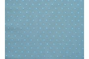 světle modrý bavlněný tyl modrý puntík