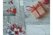 vánoční bavlněná látka se sněhuláky