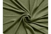 žebrovaná pletenina 1009 khaki zelená