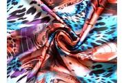 Šatovky - červená šatovka 1019 zvířecí motiv