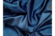satén strečový 346 tmavě modrý