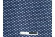 tm. modrá bavlněná látka bílý puntík
