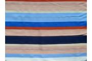 šatovka viskóza 3011 barevné proužky