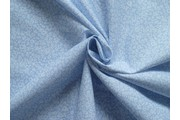 modrá bavlněná látka s květy