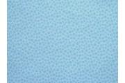 modrá bavlněná látka zvířecí stopy
