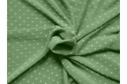 khaki zelený šifon 1955 plumeti