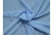 blankytně modrý šifon 1955 plumeti