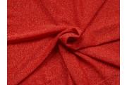 červená společenská látka 55 s červenými glittery