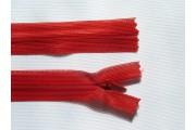 zip skrytý 20cm červený