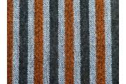 kabátovka buklé 1027 šedo oranžové pruhy