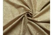 béžový bavlněný žakár 1055 se vzorem