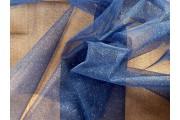 tyl effect tmavě modrý s glittery