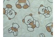bílý bavlněný popelín 425 s medvídky