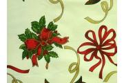vánoční bavlněná látka 80 krémová