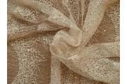 Krajky - krajka s flitry 2015 krémová