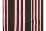 černá viskózová šatovka 3028 růžové pruhy
