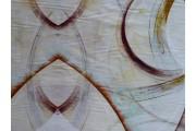 krémová hedvábná šatovka 2035  hnědý vzor