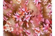 hnědá viskózová šatovka 2019 s květy