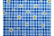 viskózová šatovka 2019 modrá kostka s květy